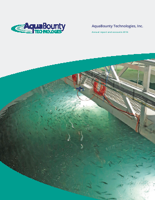 Aqua Bounty Technologies Inc annual report 2016