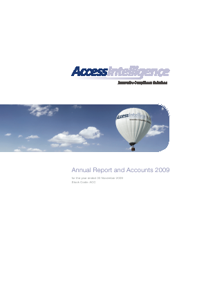 Access Intelligence annual report 2009