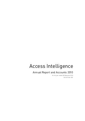 Access Intelligence annual report 2010