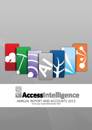 Access Intelligence annual report 2013