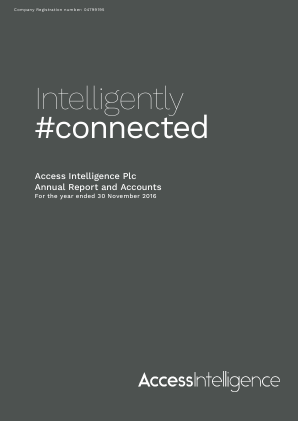 Access Intelligence annual report 2016