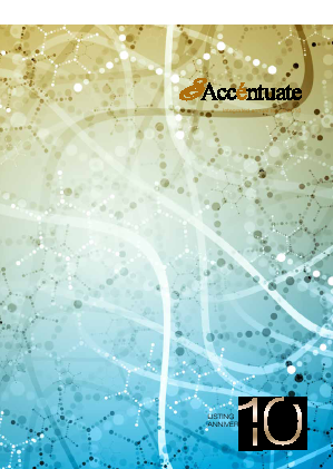 Accentuate Limited annual report 2016