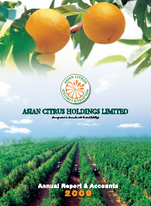 Asian Citrus Holdings annual report 2009