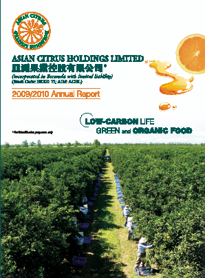 Asian Citrus Holdings annual report 2010