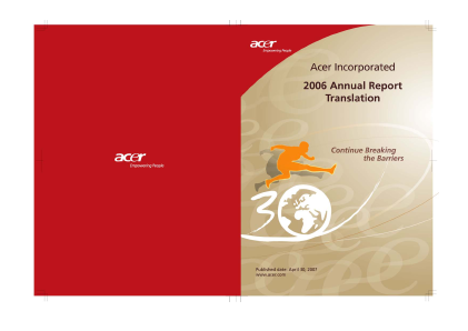 Acer Inc annual report 2006