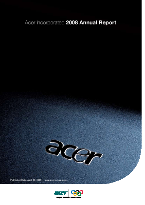Acer Inc annual report 2008