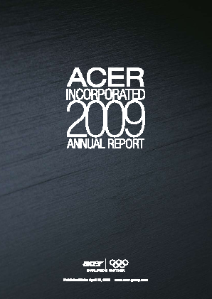 Acer Inc annual report 2009
