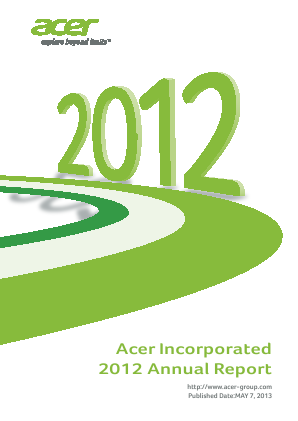 Acer Inc annual report 2012