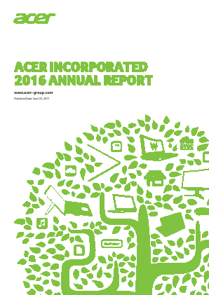 Acer Inc annual report 2016