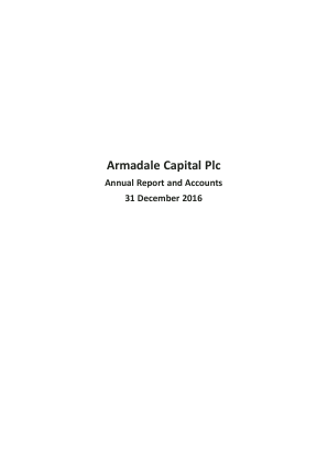 Armadale Capital Plc annual report 2016
