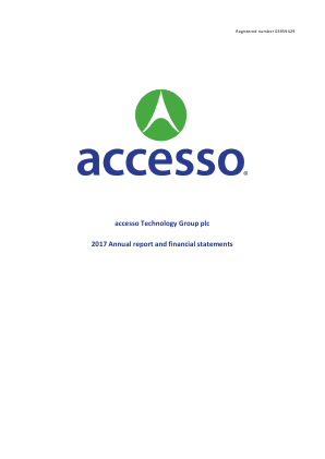 Accesso Technology Group Plc annual report 2017