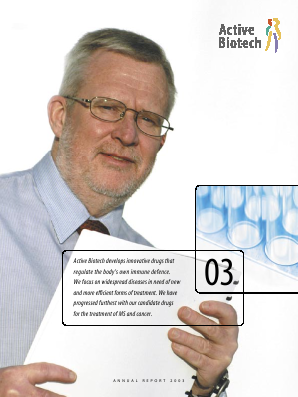Activeiotech annual report 2003