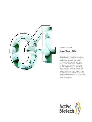 Activeiotech annual report 2004