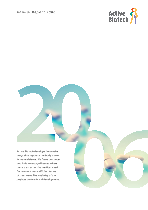 Activeiotech annual report 2006