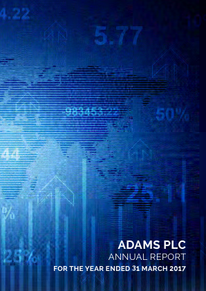 Adams Plc annual report 2017