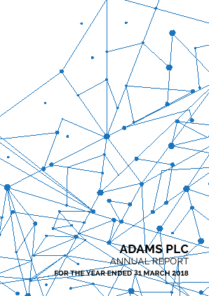 Adams Plc annual report 2018