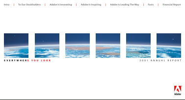 Adobe Systems Incorporated annual report 2001