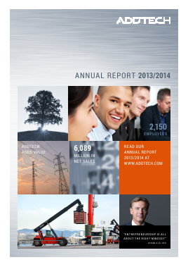 Addtech annual report 2014