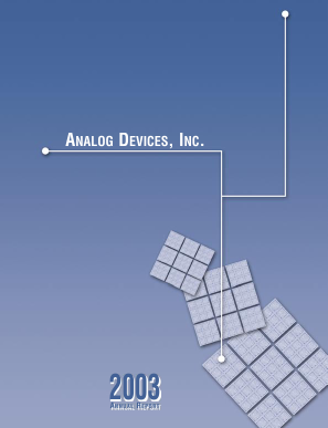 Analog Devices, Inc. annual report 2003