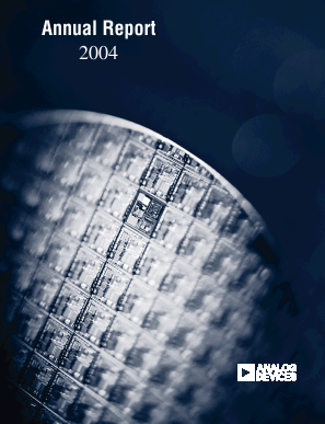 Analog Devices, Inc. annual report 2004