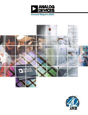 Analog Devices, Inc. annual report 2005