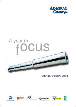 Admiral Group Plc annual report 2004