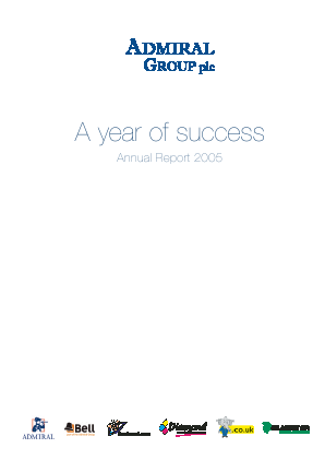 Admiral Group Plc annual report 2005