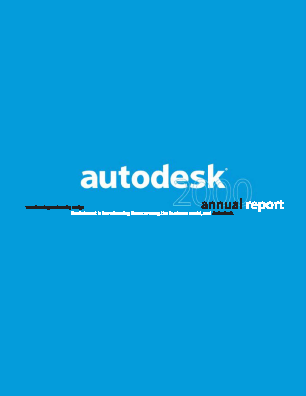 Autodesk Incorporated annual report 2000