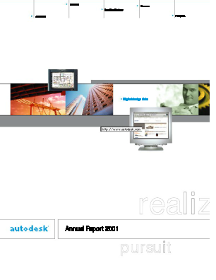 Autodesk Incorporated annual report 2001