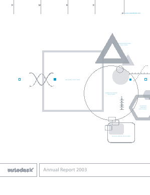 Autodesk Incorporated annual report 2003