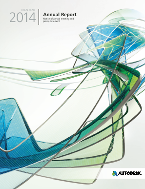 Autodesk Incorporated annual report 2014