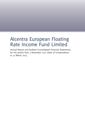 Alcentra European Floating Rate Income Fund annual report 2013