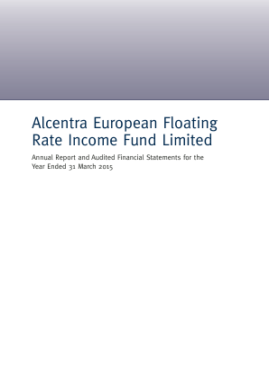 Alcentra European Floating Rate Income Fund annual report 2015