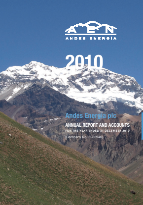 Phoenix Global Resources (previously Andes Energia) annual report 2010
