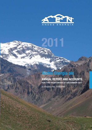 Phoenix Global Resources (previously Andes Energia) annual report 2011