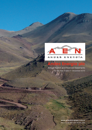 Phoenix Global Resources (previously Andes Energia) annual report 2016
