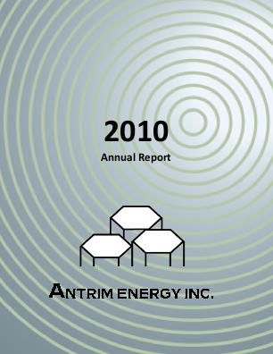 Antrim Energy Inc annual report 2010