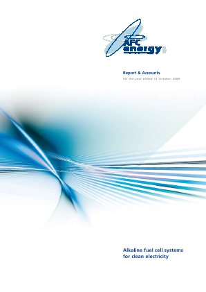 AFC Energy Plc annual report 2009