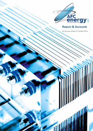 AFC Energy Plc annual report 2010