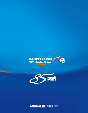 Aeroflot annual report 2007