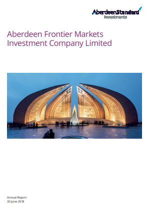Aberdeen Frontier Markets Investment Company (Previously Advance Frontier Markets Fund) annual report 2018