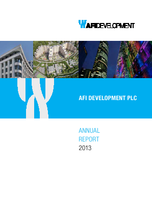 AFI Development Plc annual report 2013