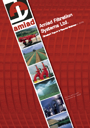 Amiad Water Systems Ltd annual report 2006