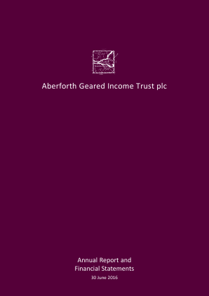 Aberforth Geared Income Trust Plc annual report 2016