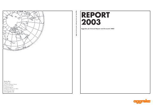 Aggreko annual report 2003