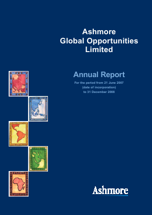 Ashmore Global Opportunities annual report 2008