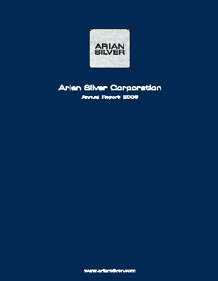 Arian Silver Corp annual report 2006