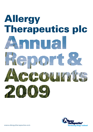 Allergy Therapeutics annual report 2009