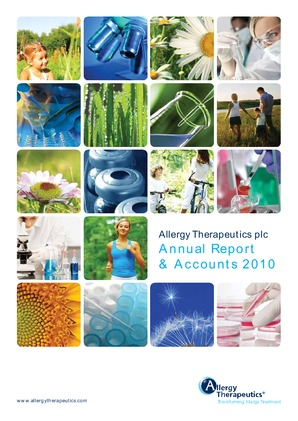 Allergy Therapeutics annual report 2010