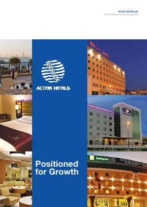 Action Hotels Plc annual report 2013